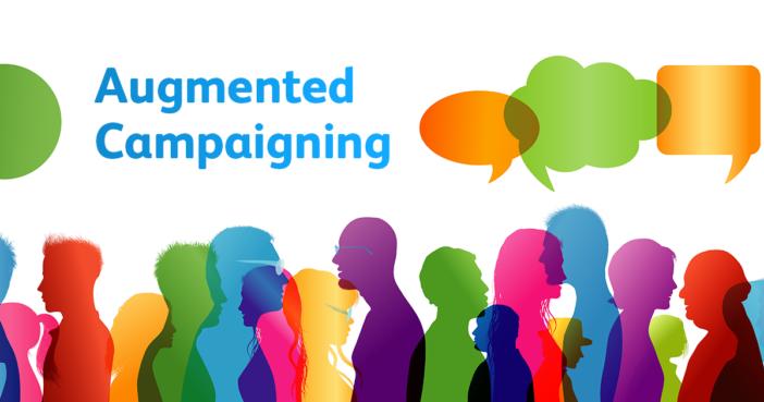 Augmented Campaigning - Menschen unterhalten sich auf unterschiedlichen Kanälen