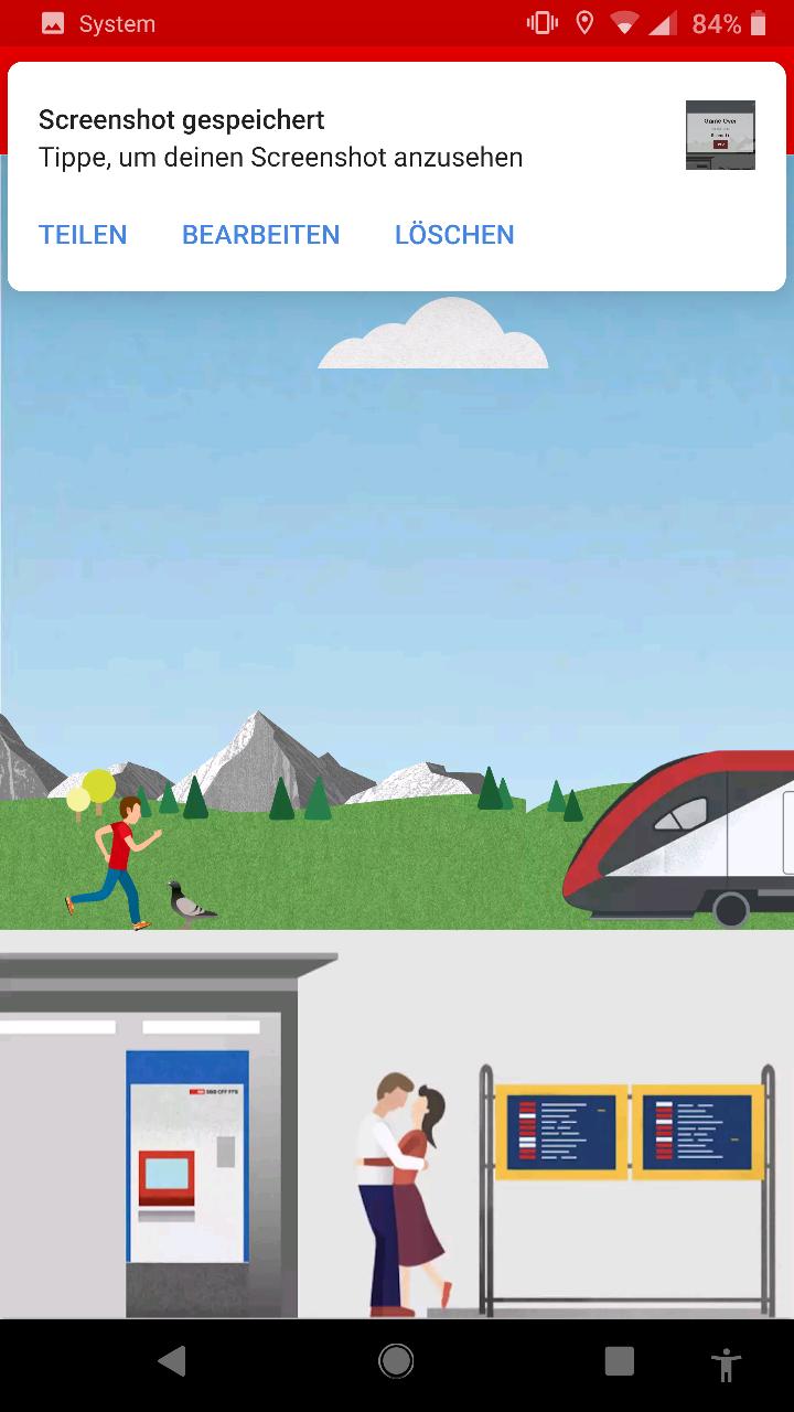 «#catchthetrain» ist eines der bekanntesten Schweizer Easter Eggs in einer mobilen App. Haben Sie es schon gefunden?