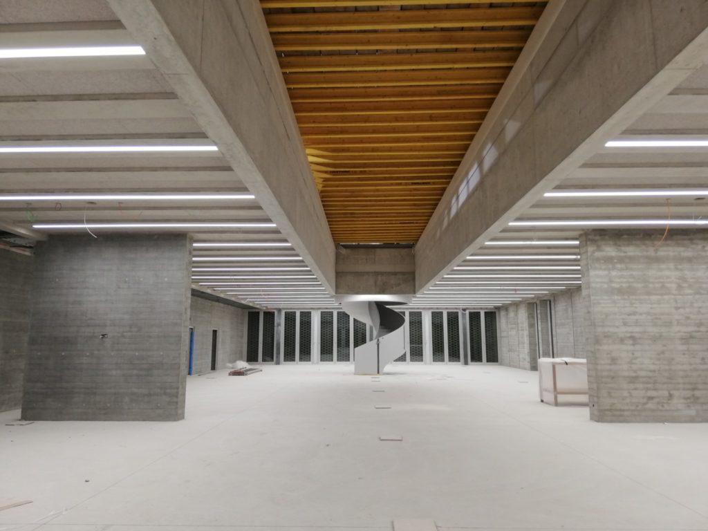 Die Bibliothek des Neubaus