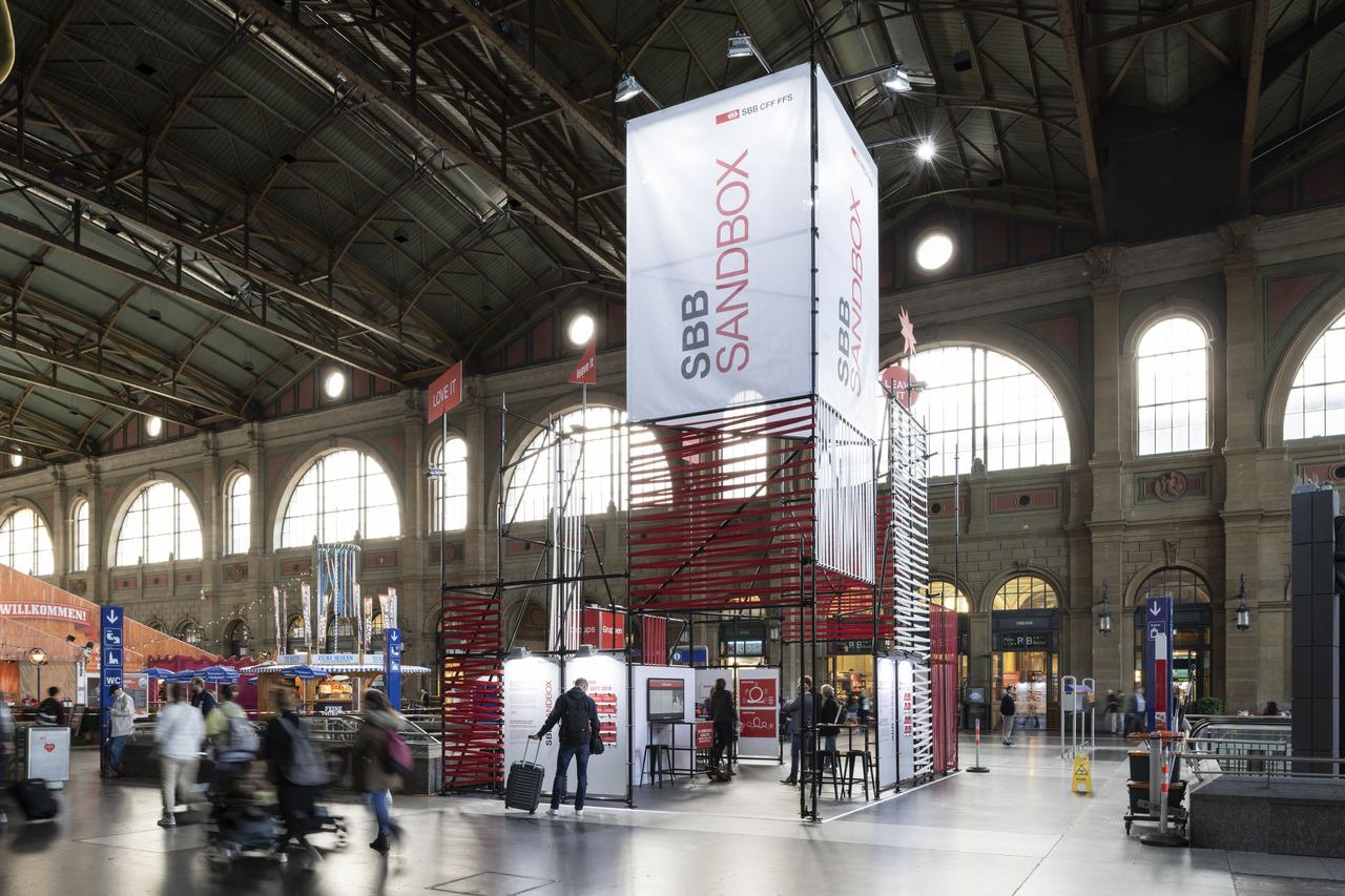 SBB Sandbox am Hauptbahnhof in Zürich