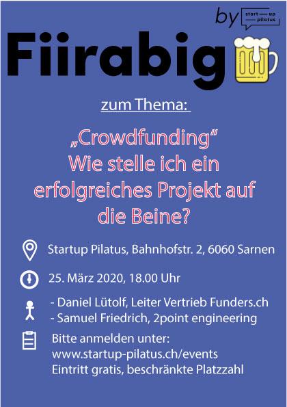 Fiirabigbier zum Thema Crowdfunding im Startup Pilatus