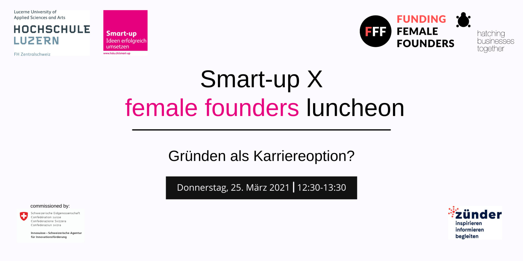 Onlineevent Smart-up X female founders luncheon