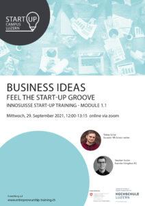 Innosuisse Startup-Training Modul 1: Business Ideas @ online via zoom