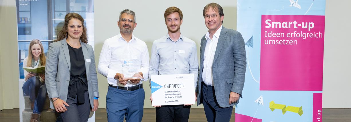 Das HSLU Start-up AureusDrive gewinnt den Zentralschweizer Neuunternehmerpreis 2021!