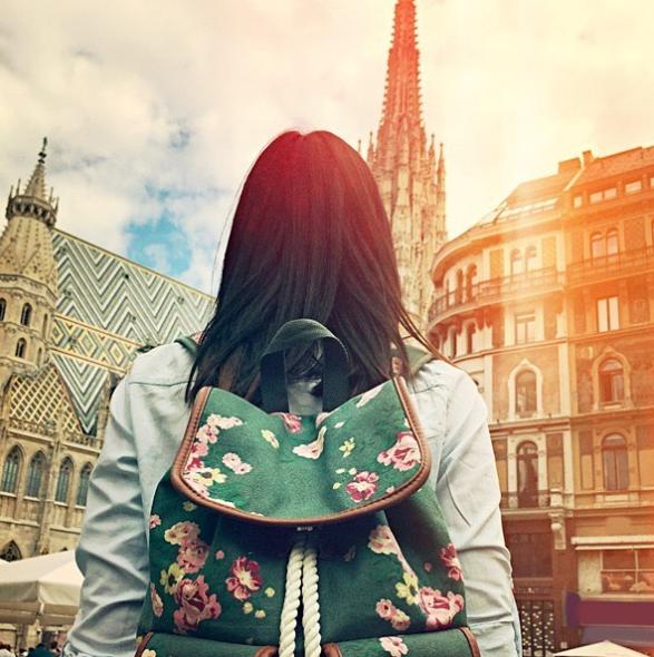 Instapost - Studentin im Ausland