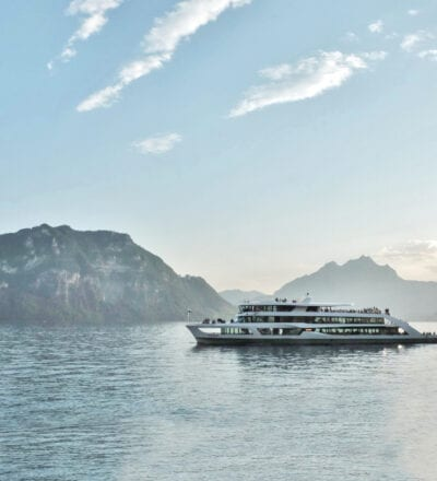 Student day out on Lake Lucerne
